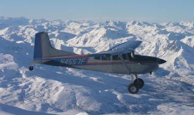 Flying over Alaska